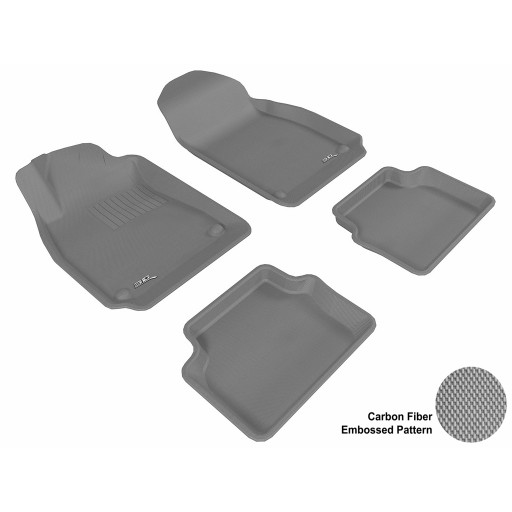 2003 - 2011 Saab 9-3 Custom-fit Gray 3D Digital Molded Mats (1st row and 2nd row only)