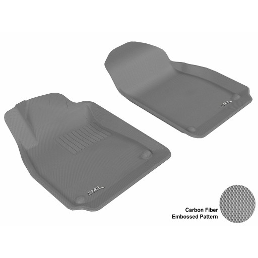 2003 - 2011 Saab 9-3 Custom-fit Gray 3D Digital Molded Mats (1st row only)