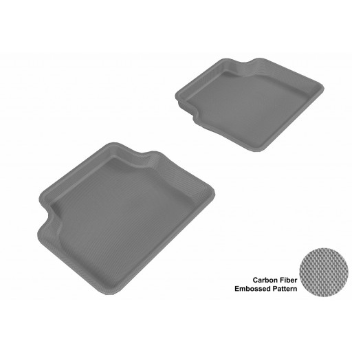 2003 - 2011 Saab 9-3 Custom-fit Gray 3D Digital Molded Mats (2nd row only)