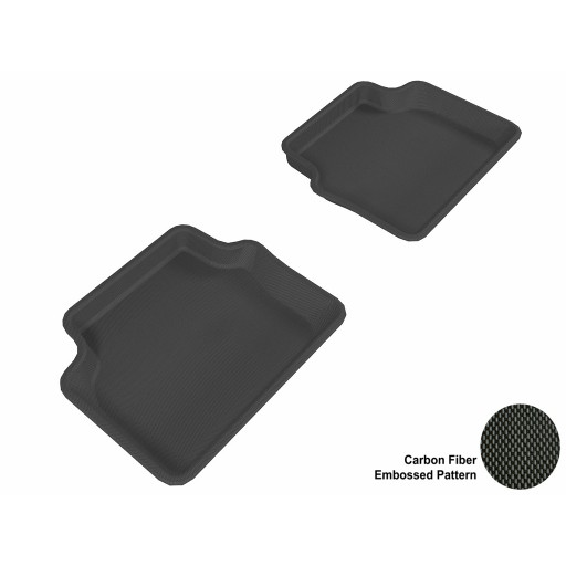 2003 - 2011 Saab 9-3 Custom-fit Black 3D Digital Molded Mats (2nd row only)