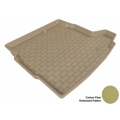 2003 - 2011 Saab 9-3 Sedan Custom-fit Tan 3D Digital Molded Cargo Liner Mat