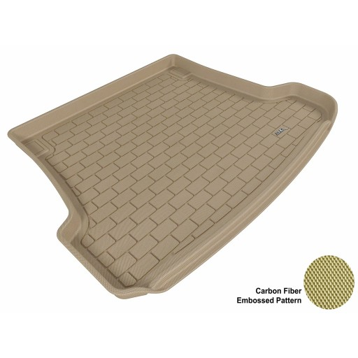 2003 - 2011 Saab 9-3 Wagon Custom-fit Tan 3D Digital Molded Cargo Liner Mat