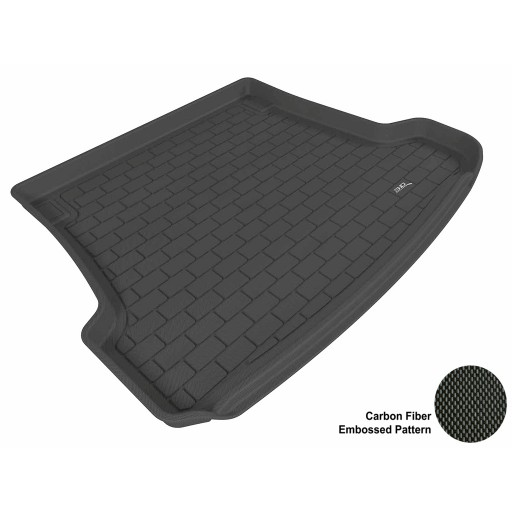 2003 - 2011 Saab 9-3 Wagon Custom-fit Black 3D Digital Molded Cargo Liner Mat