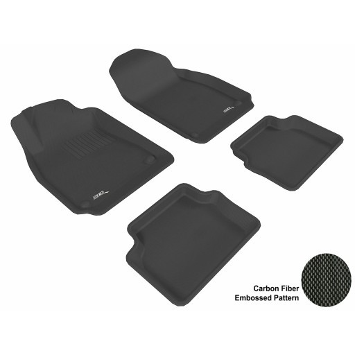 Pre- Order 2003 - 2011 Saab 9-3 Custom-fit Black 3D Digital Molded Mats (1st row and 2nd row only)