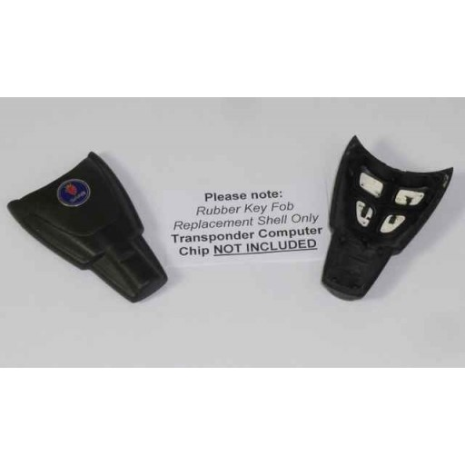 Saab 9-3 Rubber Key Fob Replacement Shell