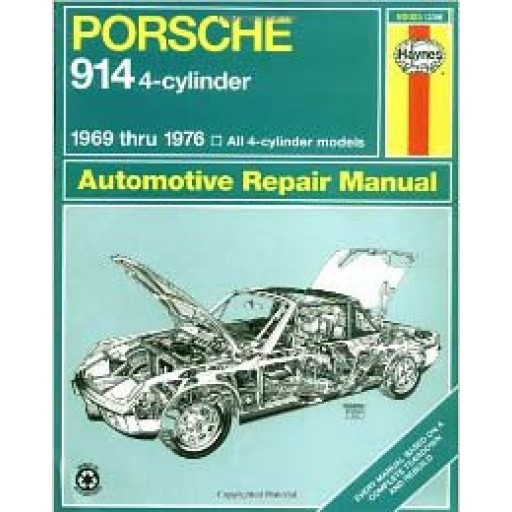 Porsche 914 4-cylinder Haynes Repair Manual For 69-76