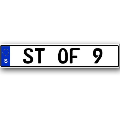 Custom Message Euro Plates