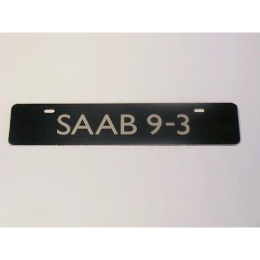 Saab 9-3 Euro Vanity Plate