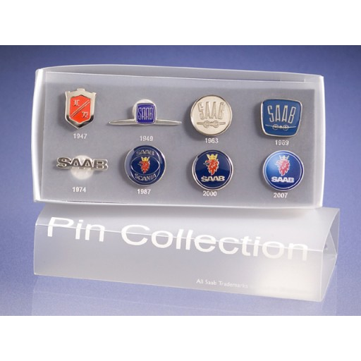 Historical Saab Pin Collection
