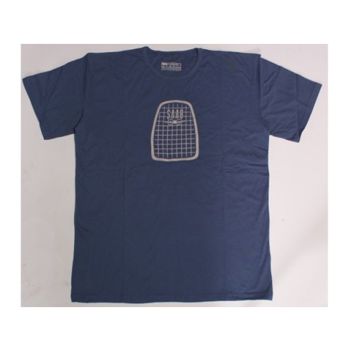 Retro T-Shirt Steel Blue