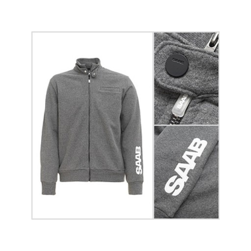 Saab Zip Jacket. Grey