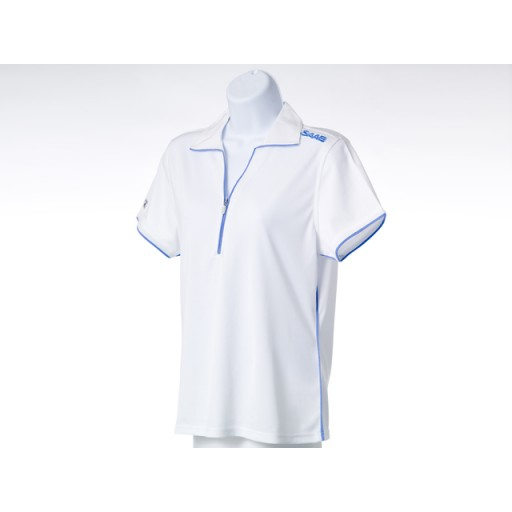 Ladies White Golf Shirt - Medium