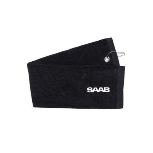 Saab Black Golf Towel