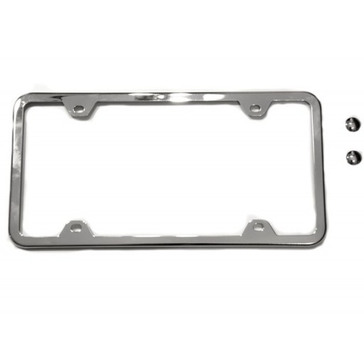 Slim Edge Chrome License Plate Frame