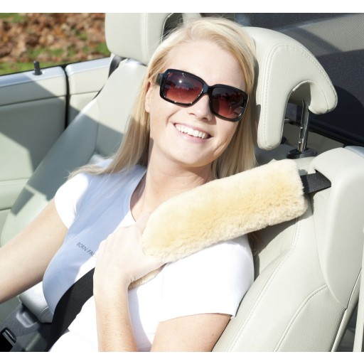 Genuine Sheepskin Seat Belt Cushion (sold individually)