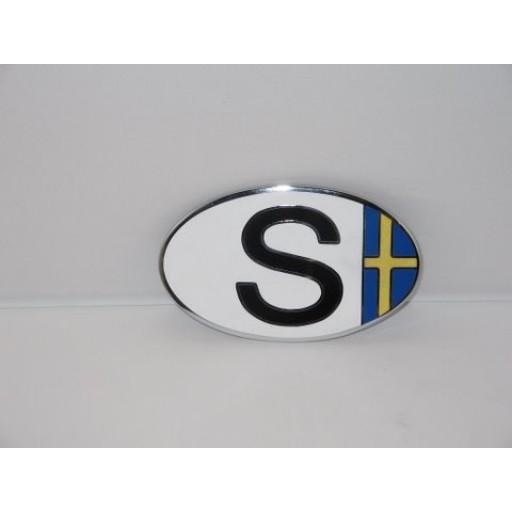 Swedish Flag Euro Badge