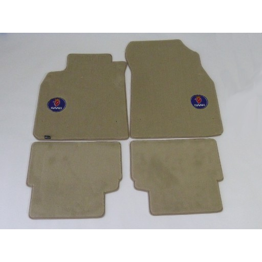 2003-2011 Saab 9-3 Sedan, Sport Combi, & Convertible Shale 4 Pc Mid-Level Mats
