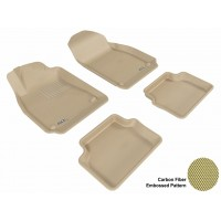2003 - 2011 Saab 9-3 Custom-fit Tan 3D Digital Molded Mats (1st row and 2nd row only)