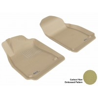 2003 - 2011 Saab 9-3 Custom-fit Tan 3D Digital Molded Mats (1st row only)