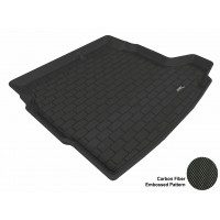 2003 - 2011 Saab 9-3 Sedan Custom-fit Black 3D Digital Molded Cargo Liner Mat