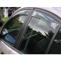 2003-2012 Saab 9-3 Sport Sedan Front and Rear Side Window Deflectors (Adhesive)
