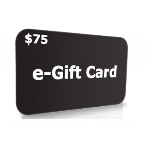 $75.00 e-Gift Card