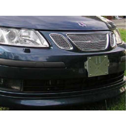 1999-2001 9-5 Sedan & Wagon Front Plate Black Plastic Bracket