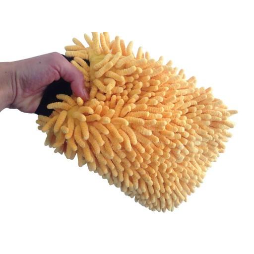 Yellow Micro-chenille Wash Mitt