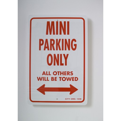 Mini Copper Parking Only Sign