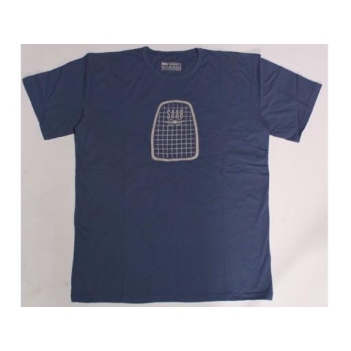 Retro T-Shirt Steel Blue