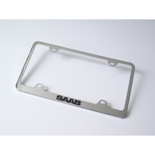 Saab Stainless 4-hole Frame