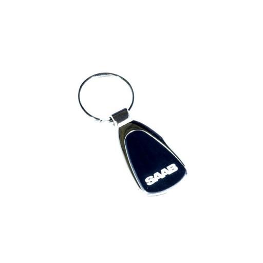Black Face Saab Name Key Ring