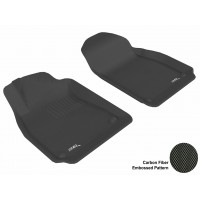 2003 - 2011 Saab 9-3 Custom-fit Black 3D Digital Molded Mats (1st row only)