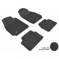 2003 - 2011 Saab 9-3 Custom-fit Black 3D Digital Molded Mats (1st row and 2nd row only)