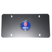 Stainless Front Saab License Plate (Chrome)