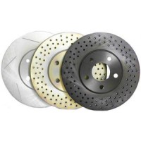 Cross Drilled Front Rotor 345 MM