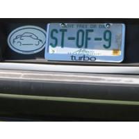 Turbo License Plate Frame