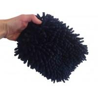 Dark Blue Micro-chenille Wash Mitt