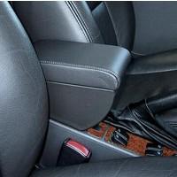 Black Leather NG900/9-3 Saab Sliding Front Armrest